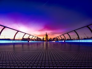 abstract image of St Paul's, London