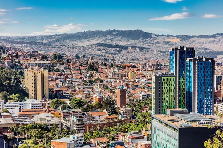 Skyline in Bogota, Colombia